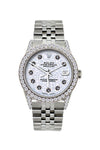 Rolex Datejust 36mm Stainless Steel Light Blue Dial w/ Diamond Bezel and Lugs