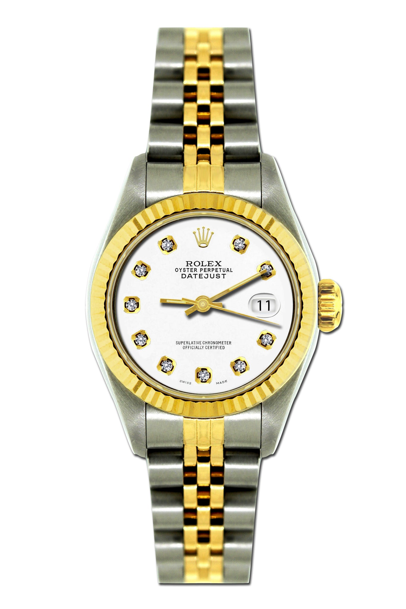 Rolex Datejust 26mm Yellow Gold and Stainless Steel Bracelet Lilac Dial