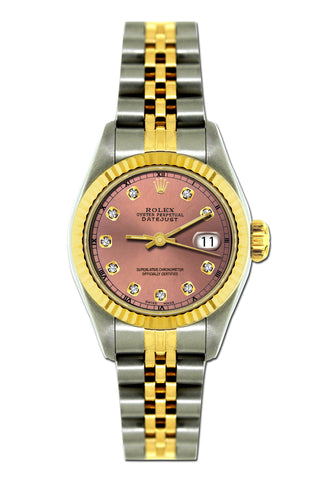 Rolex Datejust 26mm Yellow Gold and Stainless Steel Bracelet Coral Tree Dial