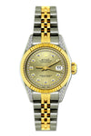 Rolex Datejust 26mm Yellow Gold and Stainless Steel Bracelet Gold Dial w/ Diamond Lugs