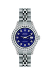 Rolex Datejust 26mm Stainless Steel Bracelet Midnight Blue Dial w/ Diamond Bezel and Lugs