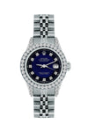 Rolex Datejust 26mm Stainless Steel Bracelet Midnight Blue and Black Dial w/ Diamond Bezel and Lugs