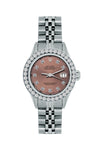 Rolex Datejust 26mm Stainless Steel Bracelet Dark Chestnut Dial w/ Diamond Bezel