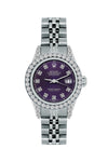 Rolex Datejust 26mm Stainless Steel Bracelet Black Rock Dial w/ Diamond Bezel and Lugs