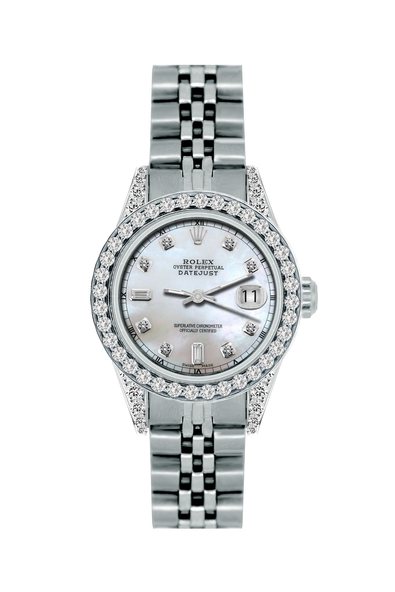 Rolex Datejust Diamond Watch, 26mm, Stainless SteelBracelet Mystic Dial w/ Diamond Bezel and Lugs