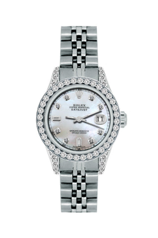 Rolex Datejust 26mm Stainless Steel Bracelet Mystic Dial w/ Diamond Bezel and Lugs