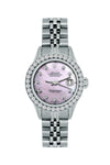 Rolex Datejust 26mm Stainless Steel Bracelet Thisle Dial w/ Diamond Bezel