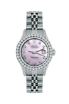 Rolex Datejust 26mm Stainless Steel Bracelet Thisle Dial w/ Diamond Bezel and Lugs