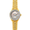 18k Yellow Gold Rolex Datejust Diamond Watch, 26mm, President Bracelet Echo Blue Dial w/ Diamond Bezel