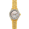 18k Yellow Gold Rolex Datejust Diamond Watch, 26mm, President Bracelet Echo Blue w/ Diamond Bezel and Lugs