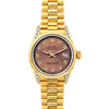 18k Yellow Gold Rolex Datejust Diamond Watch, 26mm, President Bracelet Earthern Dial w/ Diamond Lugs