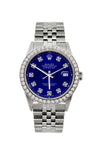 Rolex Datejust Diamond Watch, 36mm, Stainless Steel Blue Dial w/ Diamond Bezel