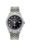 Rolex Datejust 36mm Stainless Steel Black Rolex Dial w/ Diamond Bezel and Lugs