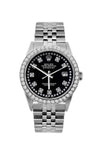 Rolex Datejust 36mm Stainless Steel Black Dial w/ Diamond Bezel