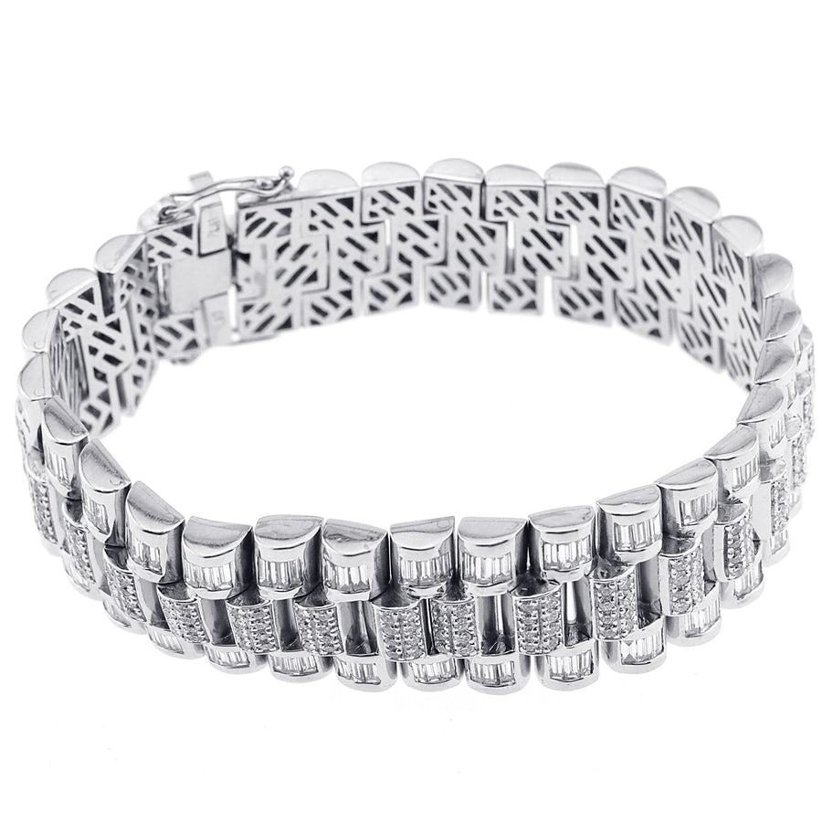 Men's Platinum Diamond Bracelet