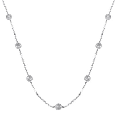 Ladies Diamond Ball Chain
