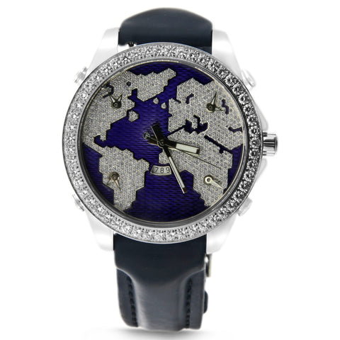 Blue Five Time Zone Jacob & Co Watch