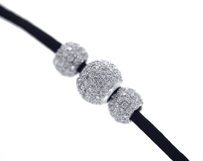 Three Diamond Ball Necklace