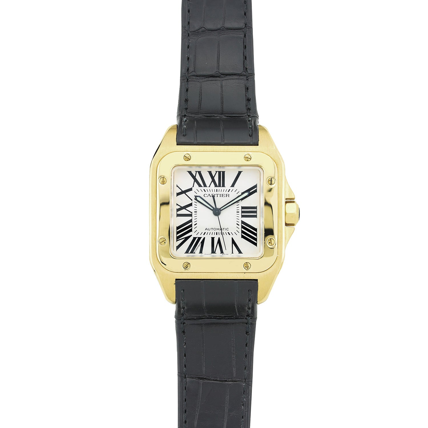 Cartier Santos 100 Yellow Gold W20071Y1 Large