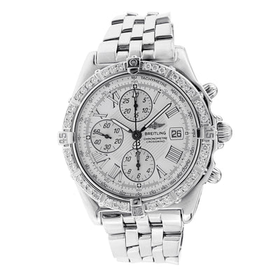 Breitling Crosswind Chronograph Watch with Diamond Bezel