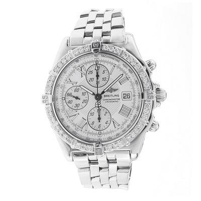 Men's Breitling Crosswind Chronograph Watch with Diamond Bezel