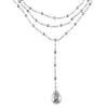Ladies Multi-Layer Diamond by the Yard Chain with Tear Drop