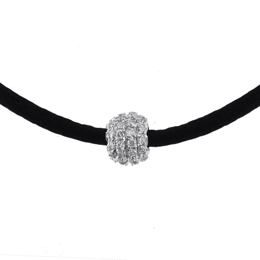 Ladies Small Diamond Ball Pendant