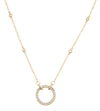 Ladies Diamond by the Yard Chain with Diamond Circle of Life