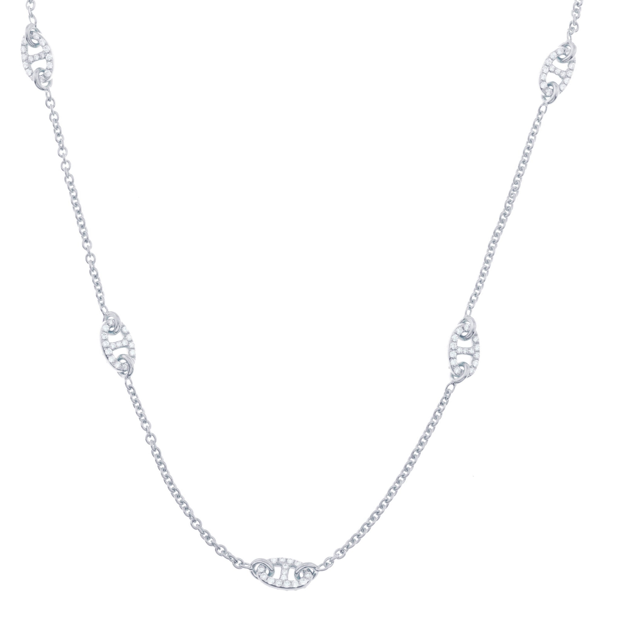 RoseWhiteChain with Diamond Links