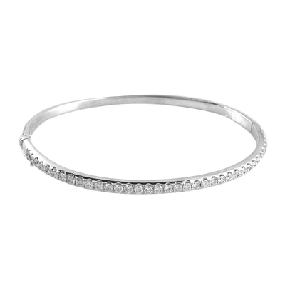 Ladies White Gold Eernity Diamond Bangle