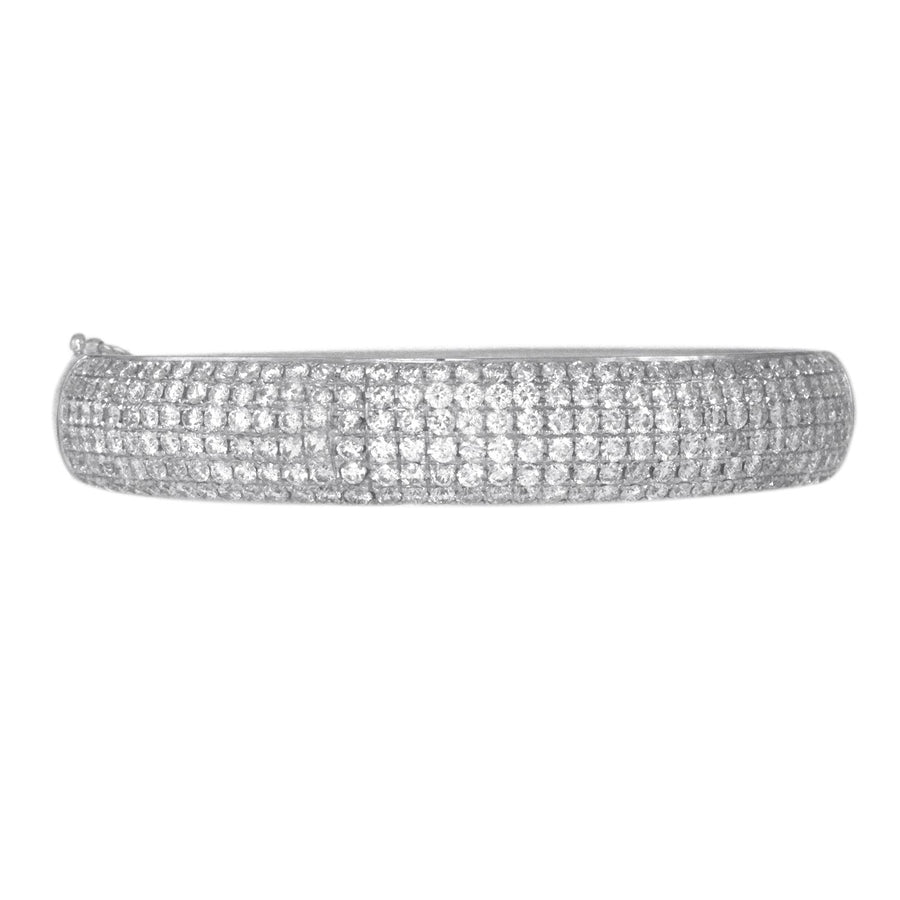 White Gold Ladies Diamond Bangle