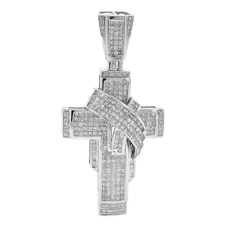 Wrap Around Diamond Cross Pendant