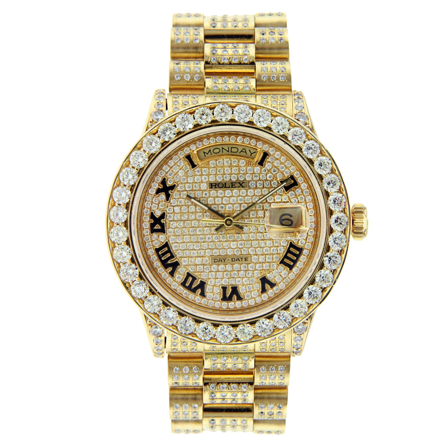 Rolex 36MM Day Date President Yellow Gold with Diamonds
