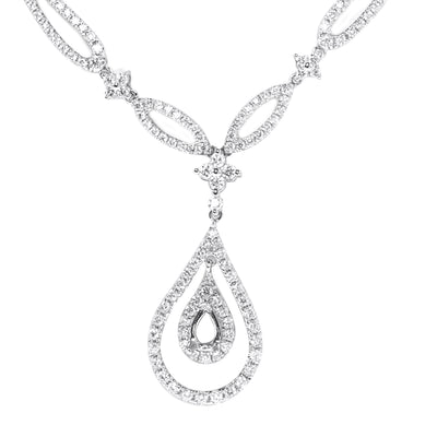 Diamond Chain with Tear Drop Pendant