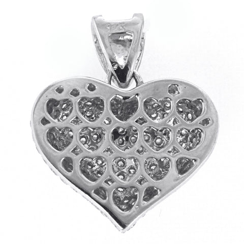 White Gold Diamond Heart Pendant