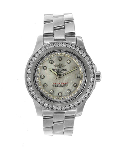 Stainless Steel Breitling Colt Oceane Diamond Watch
