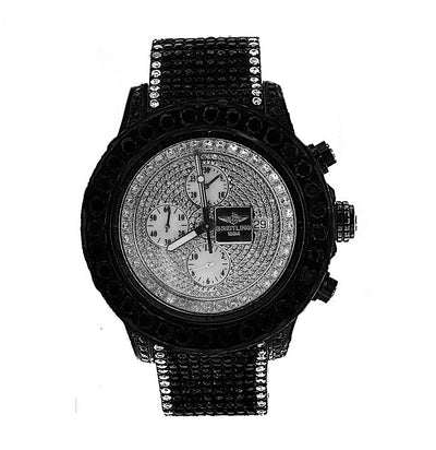 Breitling Super Avenger with Black and White Diamonds