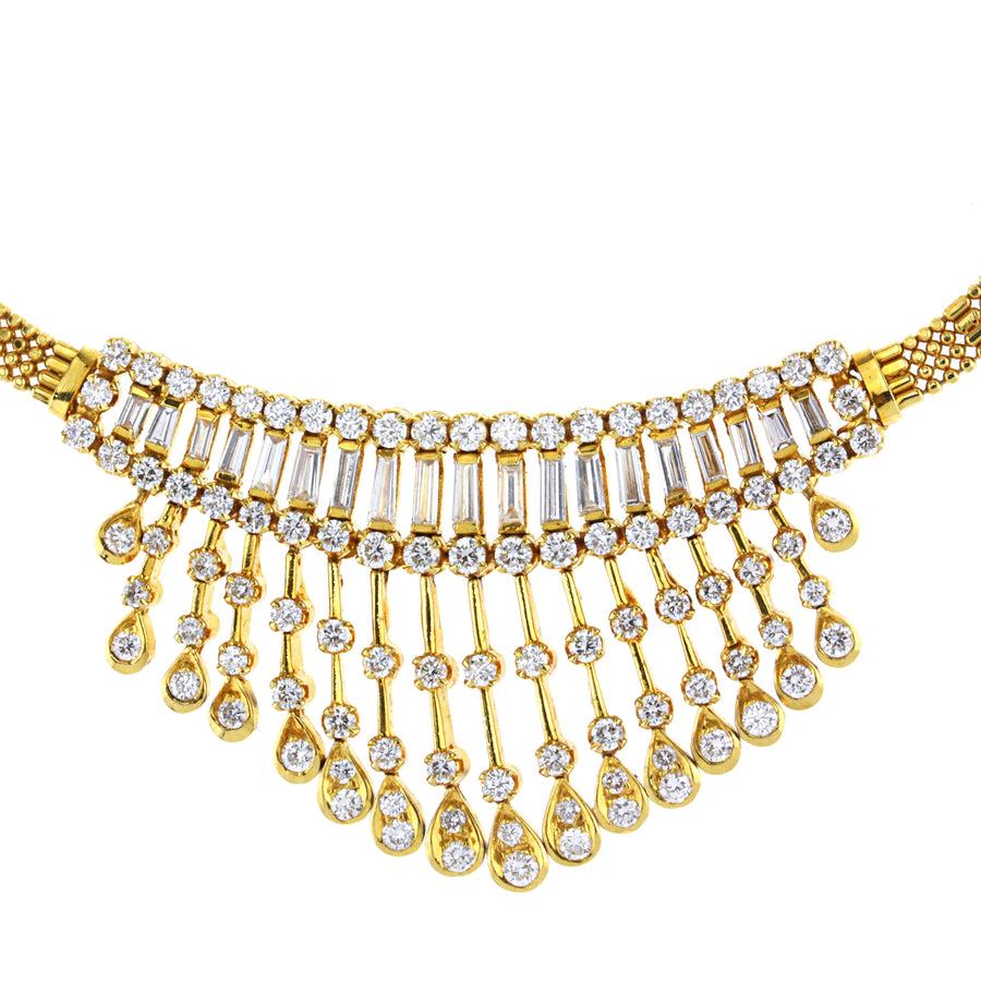 Ladies Yellow Gold Vintage Style Necklace