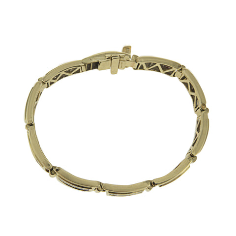 14K Yellow Gold Princess Cut Diamond Bracelet With 12.00CT