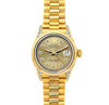 18k Yellow Gold Rolex Datejust Diamond Watch, 26mm, President Bracelet Champagne Dial w/ Diamond Lugs