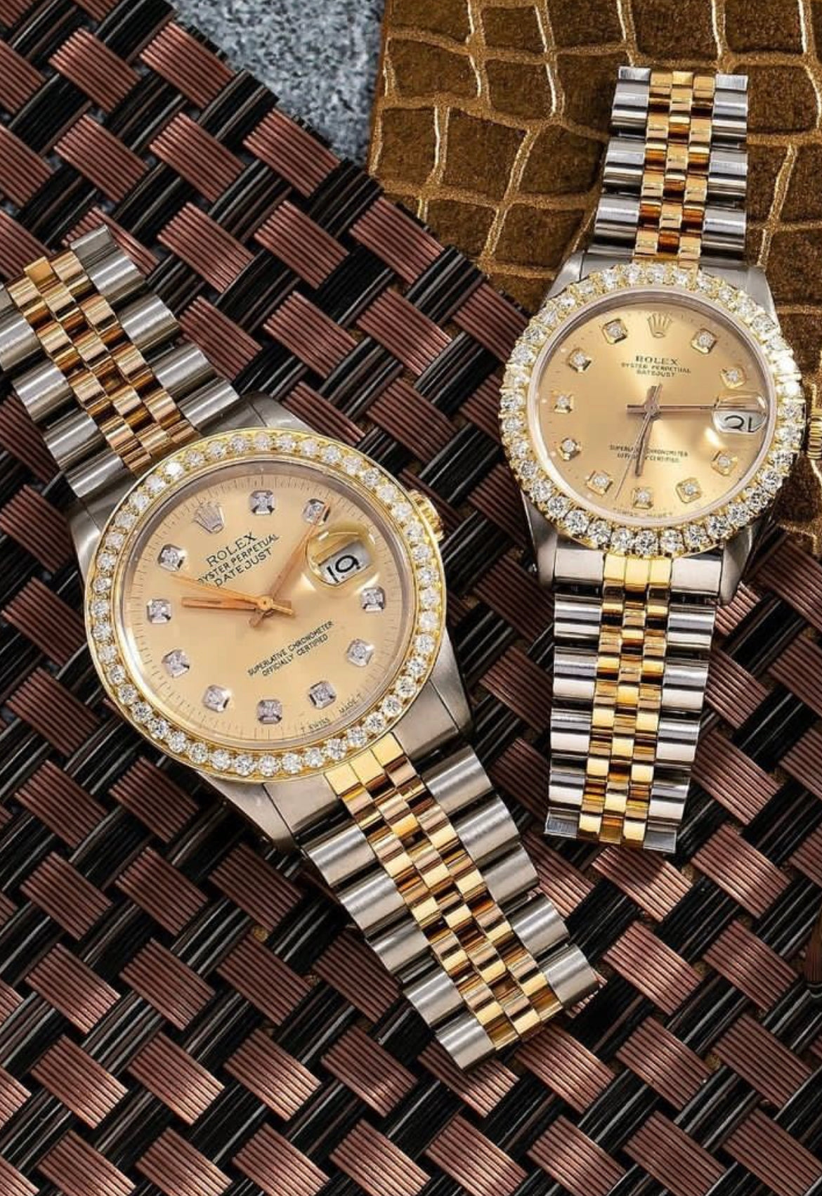 Rolex Datejust Diamond Watch, 31mm, with diamond dial and bezel oyster band
