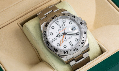 Stainless Steel Rolex Explorer II 216570 42mm White Dial