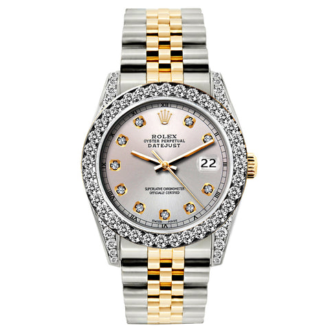 Rolex Datejust 26mm Yellow Gold and Stainless Steel Bracelet Martini Dial w/ Diamond Bezel and Lugs