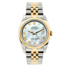 Rolex Datejust 36mm Yellow Gold and Stainless Steel Bracelet Blue Mother of Pearl Dial