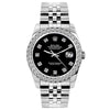 Rolex Datejust Diamond Watch, 26mm, Stainless SteelBracelet Jet Black Dial w/ Diamond Bezel