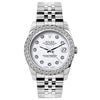 Rolex Datejust 26mm Stainless Steel Bracelet White Rolex Dial w/ Diamond Bezel