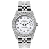 Rolex Datejust Diamond Watch, 26mm, Stainless SteelBracelet Rolex White Dial w/ Diamond Bezel and Lugs