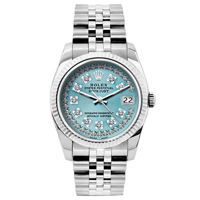Rolex Datejust 26mm Stainless Steel Bracelet Turquoise Dial