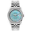 Rolex Datejust 26mm Stainless Steel Bracelet Blue Rays Dial w/ Diamond Bezel