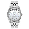Rolex Datejust Diamond Watch, 26mm, Stainless SteelBracelet Blue Mother of Pearl Dial w/ Diamond Bezel